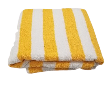 Cabana Towels 2x2 Yellow Stripes 9 Lbs. 30x60""
