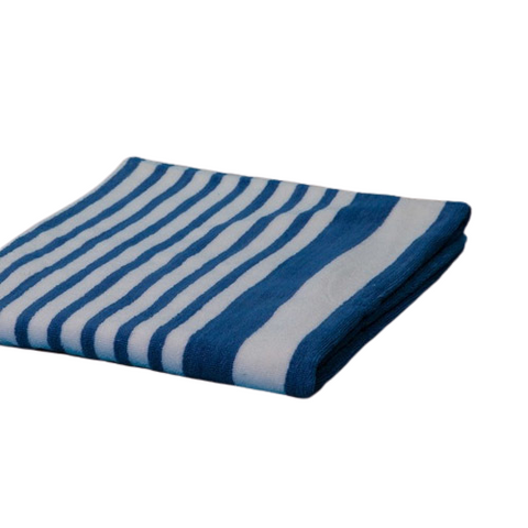 Cabana Towels Tropical Blue Stripes 15# 30x70""