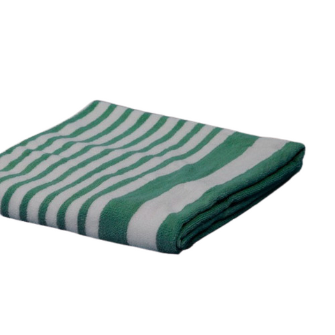 Cabana Towels Tropical Green Stripes 15# 30x70""