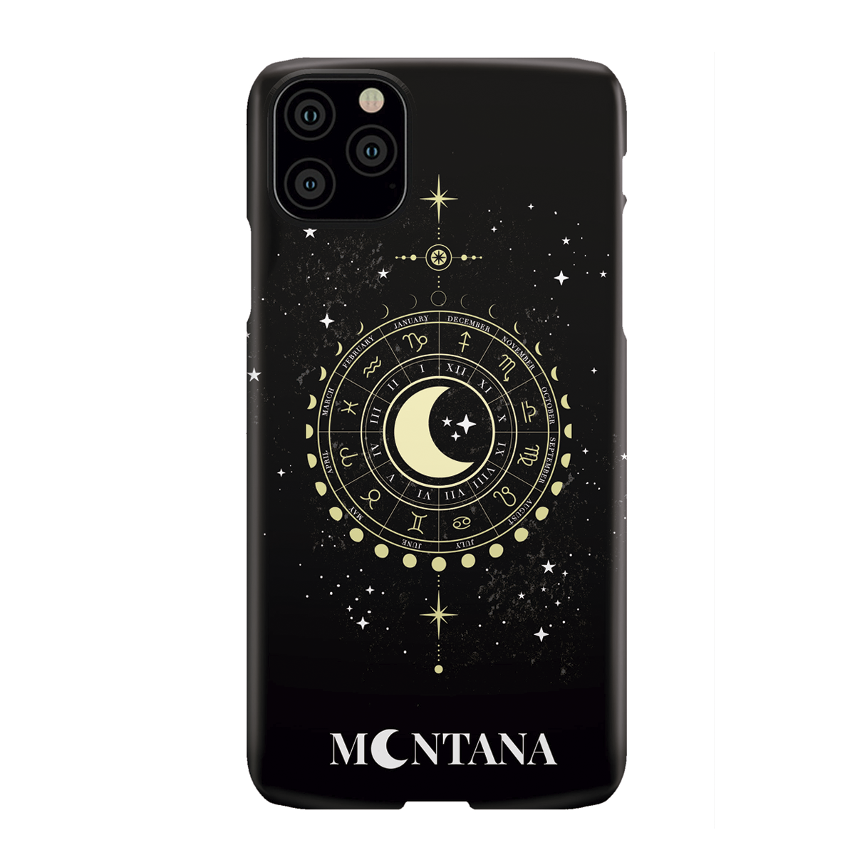 To The Moon Black Phone Case