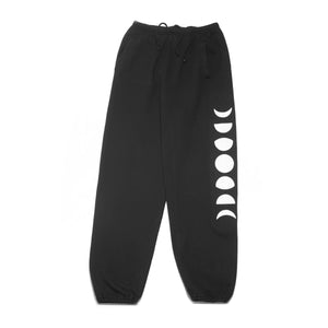 To The Moon Black Sweatpants