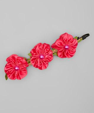 Hot Pink Flower Crown Headband