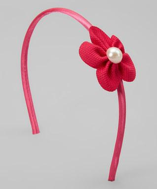 Pearl Accent Petal Flower Headband