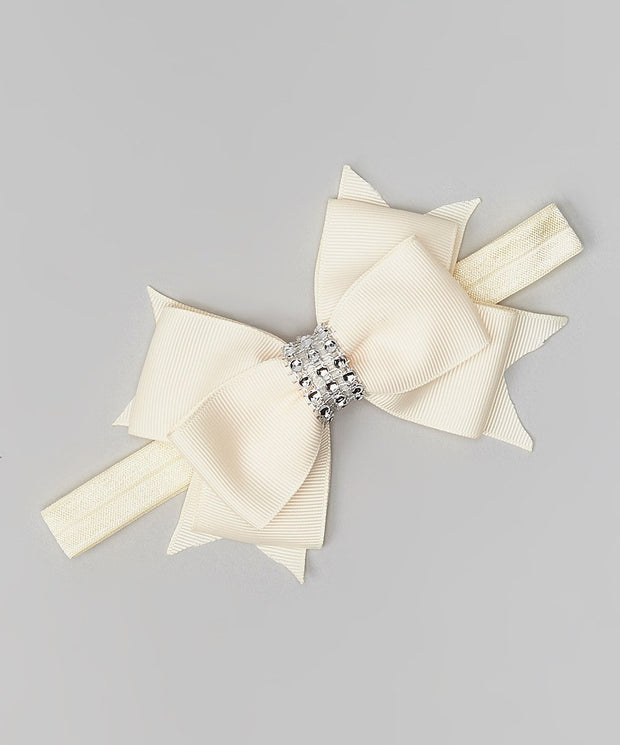 Rhinestone Layered Bow Headband