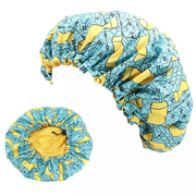 Kid Ankara Print Adjustable Hair Bonnet