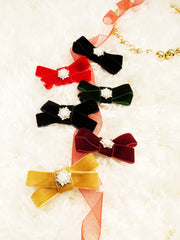 Mini Rich Velvet Bow with Accent