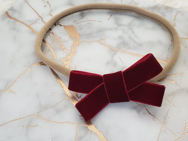 Mini Rich Velvet Bow
