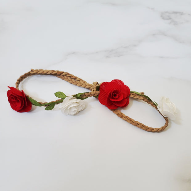 Tie Back Chic Flower Crown Headband