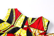 Ireti Ankara  Print Dress - Red
