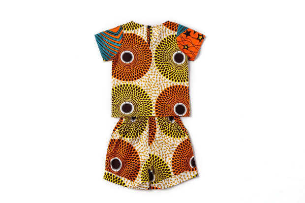 Jide Two Print Ankara Boys Two Piece Set