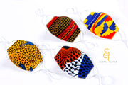 Kids Ankara Print Cotton Face Mask with Filter Pocket and Filter