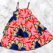 Ore Ankara  Print Dress - Pink/Blue
