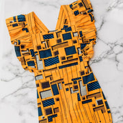 Temitope Ankara  Print Jumpsuit - Yellow/Blue