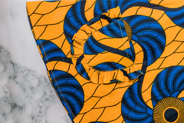 Eniola Ankara  Print Dress - Yellow/Blue