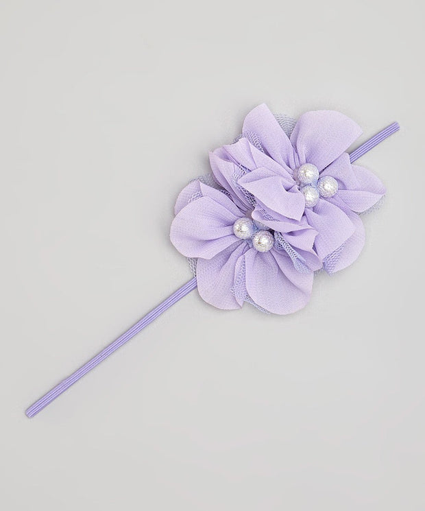 Triple Pearl Flower Headband