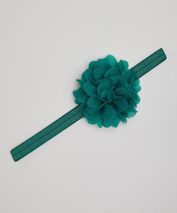 Hunter Green Flower Headband