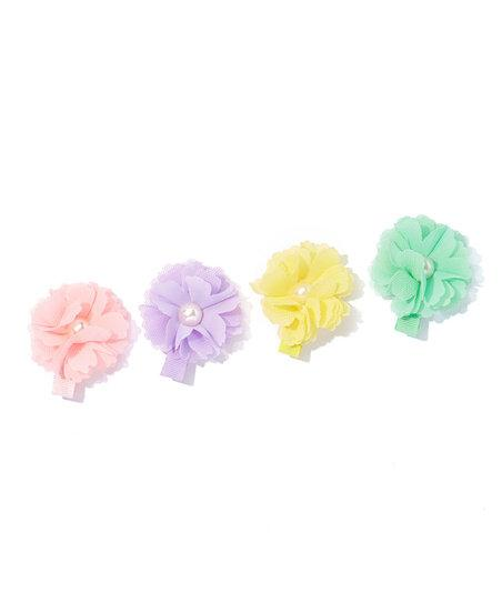 Pastel Spring Flower Hair Clip set of 4
