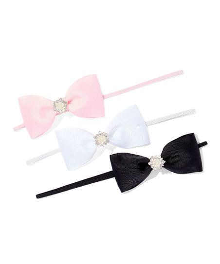 Rhinestone Bow set of 3