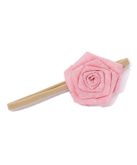 Burlap Rose Flower Headband