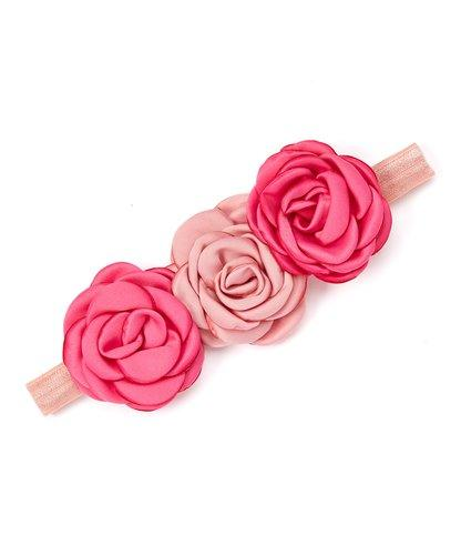 Rose Pink Flower Headband