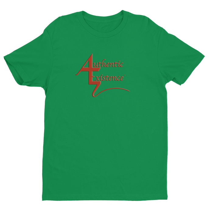 Authentic Existence® Signature Short Sleeve Relaxed Fit T-Shirt - Green with Red Logo - Authentic Existence®