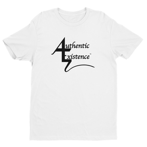Authentic Existence® Signature Short Sleeve Relaxed Fit T-Shirt - White with Black Logo - Authentic Existence®