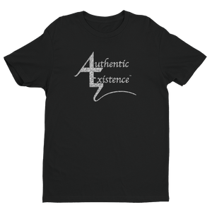 Authentic Existence® Signature Short Sleeve Relaxed Fit T-Shirt - Black with Silver Glitter Logo - Authentic Existence®