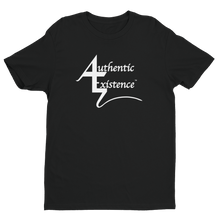 Load image into Gallery viewer, Authentic Existence® Signature Short Sleeve Relaxed Fit T-Shirt - Black with White Logo - Authentic Existence®
