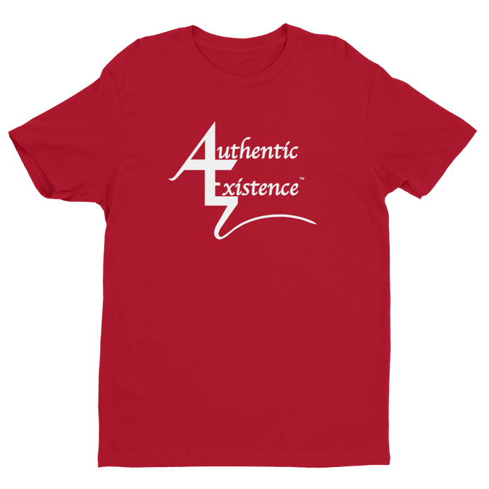Authentic Existence® Signature Short Sleeve Relaxed Fit T-Shirt - Red with White Logo - Authentic Existence®