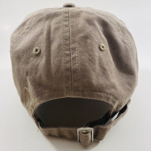 Authentic Existence® Signature Unisex Adjustable Premium Cap - Khaki with Black Embroidery