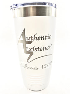 Authentic Existence® Energy Boost Tumbler - White 20 oz. - Authentic Existence®