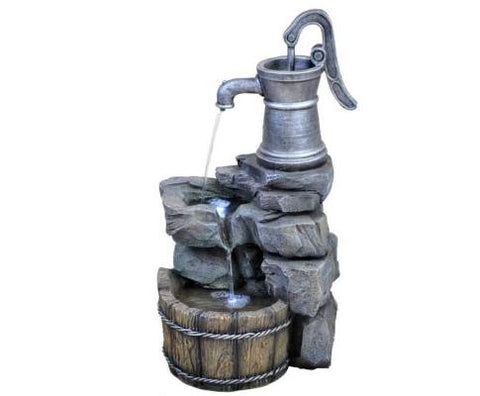 2 Tier Silver Tap Water Fountain