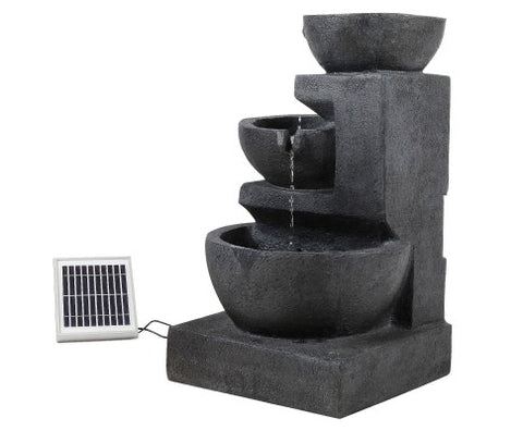 3 Tiered Solar Water Fountain with LED Lights