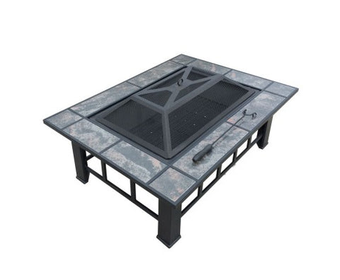 Multipurpose Outdoor Grill Table and Fire Pit with Ice Tray