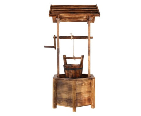 Wooden Wishing Well 100cm