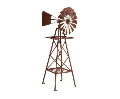 Large Metal Windmill Garden Ornament - 120cm