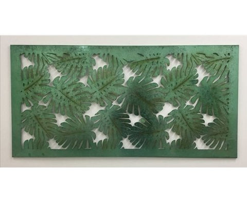 Green Metal Tree Wall Art - 122cm