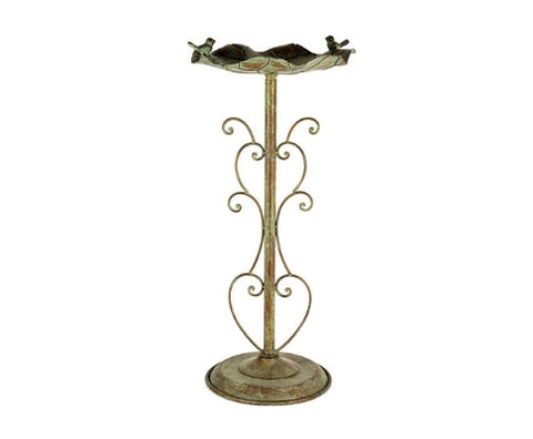 Lilypad Birdbath Outdoor Feeding Station Stand