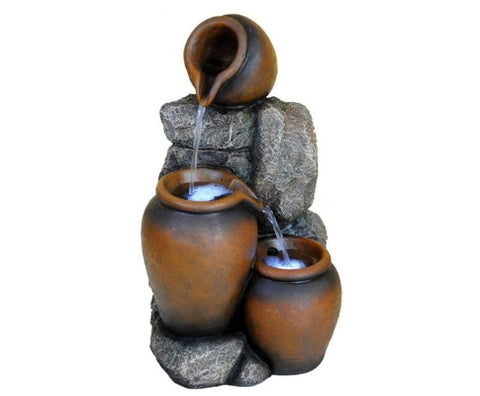 3 Tier Cascade Pots Water Feature Fountain