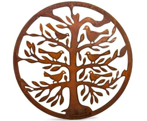 Dark Rust Circle of Life Wall Art - 50cm