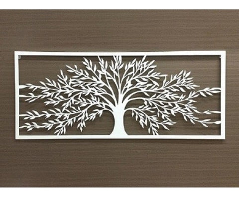 Matte White Metal Tree of Life Wall Art - 123cm