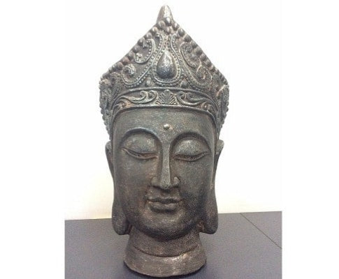 Hand Painted Large Buddha Head Statue - 46cm