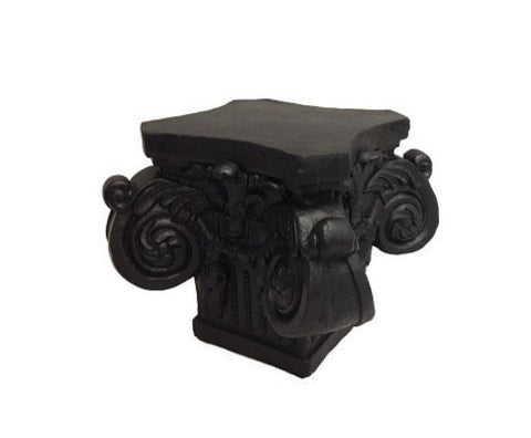 Decorative Poly Resin Pillar - Black
