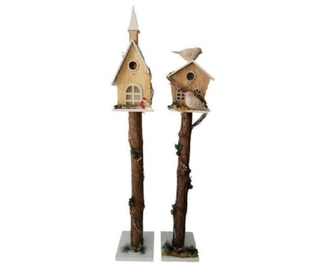 2 Bird House with Led Light Outdoor Feeding Station