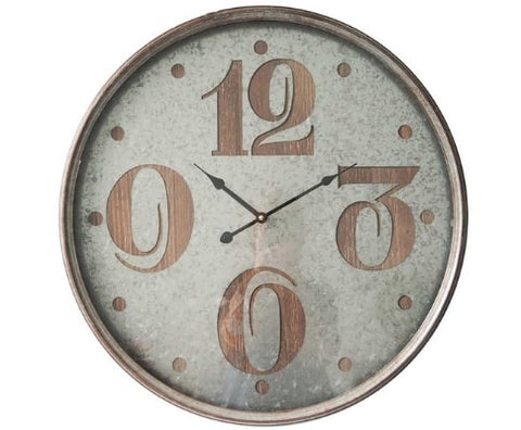 Large Industrial Round Wall Clock