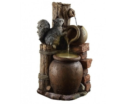 3 Tier Squirrel Water Feature Fountain