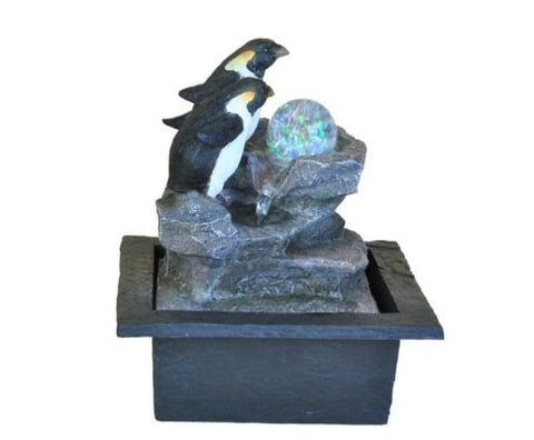 Penguin Drift Water Feature Fountain