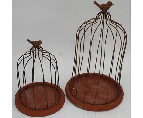 Cage Garden Flower Holder - Set of 2