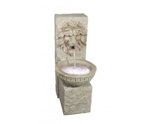 Grand Lion Feng Shui Indoor Outdoor Garden Water Feature Fountain with LED Light