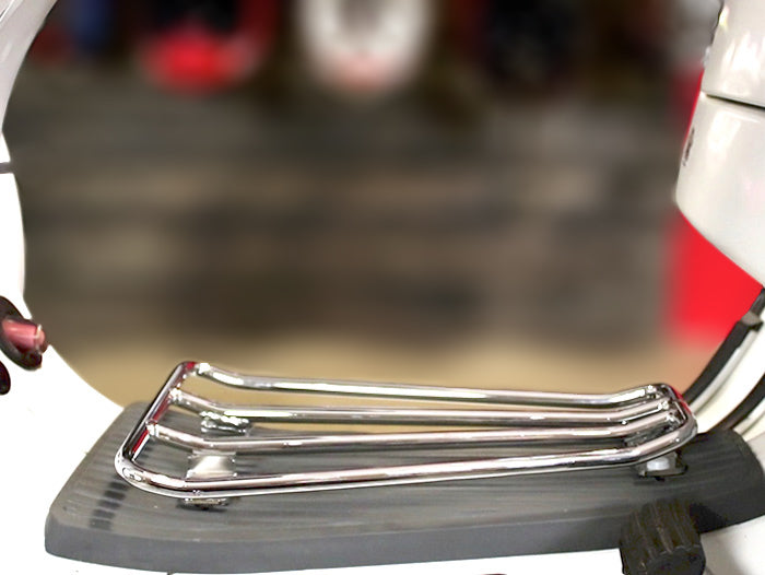 Moto Nostra Floor Board Rack in Chrome - Vespa PX T5